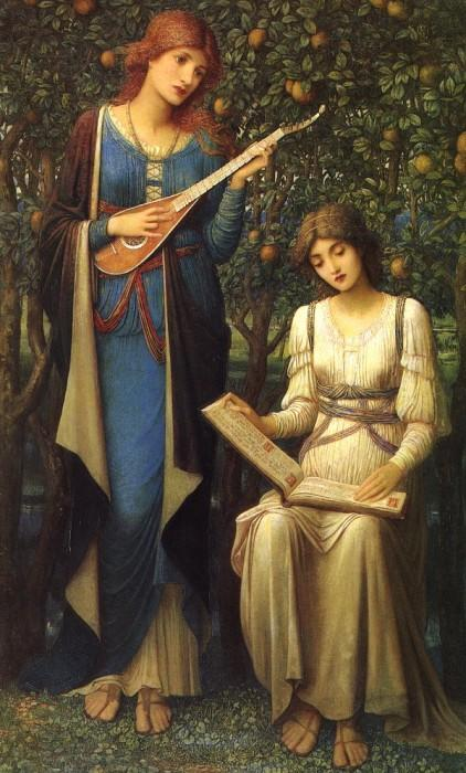When Apples Were Golden and Songs Were Sweet, But Summer Had Passed Away by John Melhuish Strudwick.